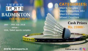 Infra Sports Badminton Tournament