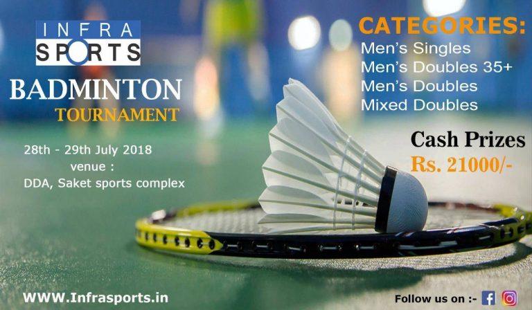 Infra Sports badminton Tournament Delhi