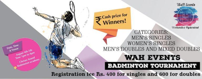 waH Events Badminton Tournament allsport